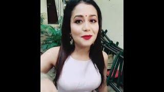 Mile Ho Tum Humko    Neha Kakkar | selfie video | wishes Karwa Choth to her Fans