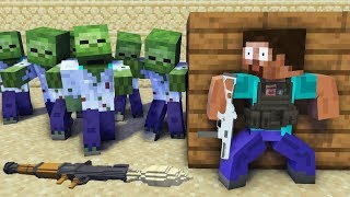 Monster School : ZOMBIE APOCALYPSE 2 CHALLENGE - Minecraft Animation