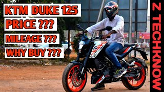 KTM Duke 125 Full Review | Mileage | Price |  Pro & cons | Digital meter | Z Techknow | Hindi