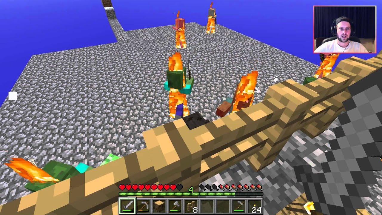 Minecraft skyblocks 6 huis bouwen youtube for Huis maken minecraft