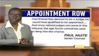 VIDEO: Sharad Rao's tribunal appointment faces opposition