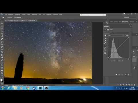 stacking astrofotografico photoshop - via lattea - milkyway -