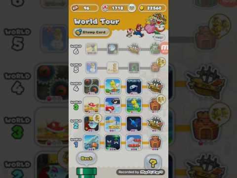 Super Mario Run (Android) - World 4-4 (Firing the Airship's Burners) Pink Coins