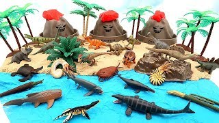 3 Volcano Eruption! Jurassic World Dinosaurs In Danger - DIY Dinosaur Island Volcano Toys