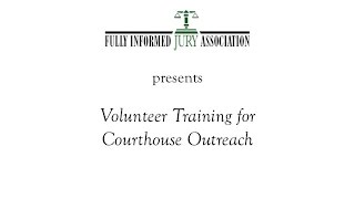 Courthouse Outreach Volunteer Training