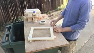 How to Make Natural Wood Floater Frames