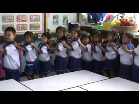 กิจกรรมการเรียนการสอนระดับชั้นอนุบาล 1 ร.ร.ยู่เฉียว จ.กาญจนบุรี