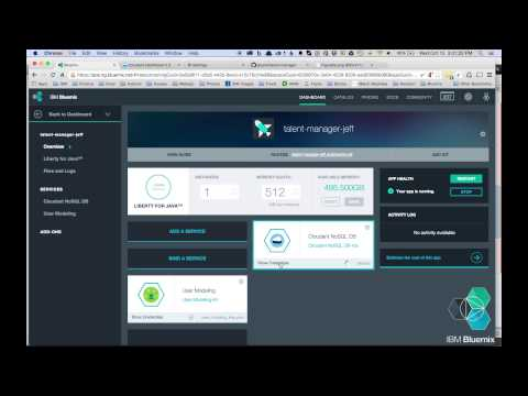 Building a Java EE webapp on IBM Bluemix Using Watson and Cloudant