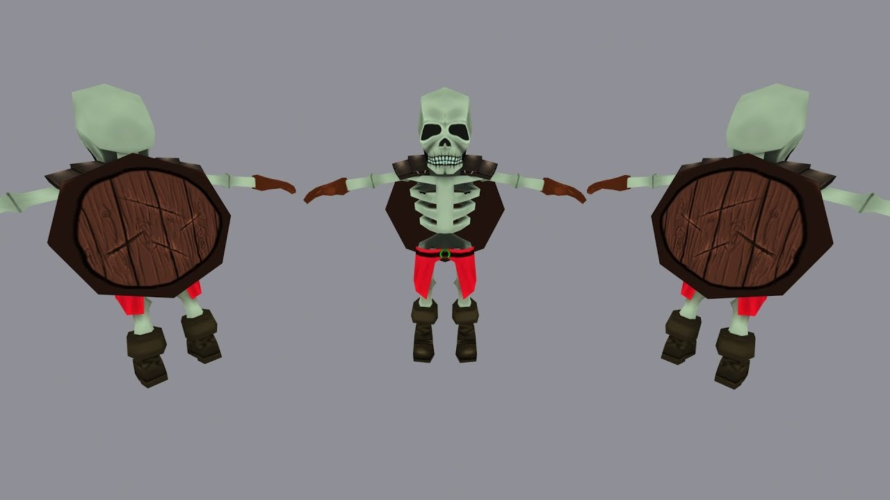 The Low Poly Skeleton Modeling TimeLapse
