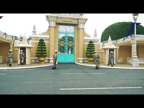 Royal Guard at Royal Palace, Phnom Penh, Cambodia, 4k video - Free Stock Footage