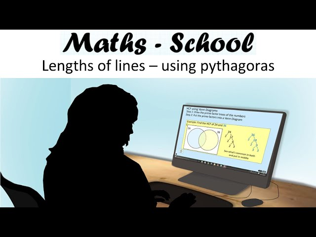Find the length of a line between 2 points using pythagoras : Maths - School GCSE Revision