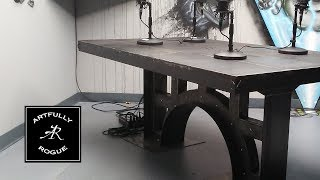 Creation of an Industrial Style Metal Table - Part 1