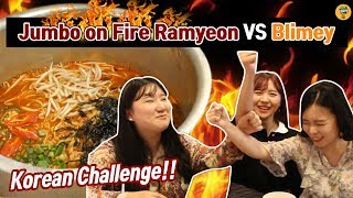 Spiciest & Biggest Korean Ramyeon in Malaysia?! l Blimey Challenge