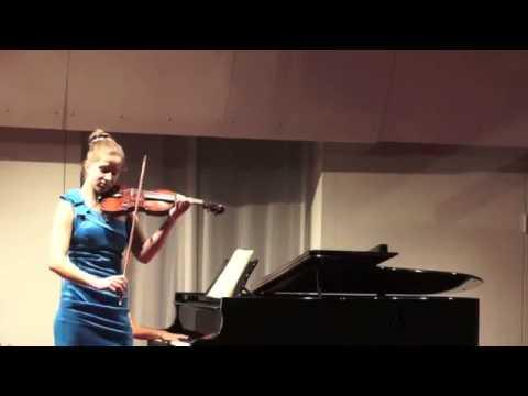Ariana Puhar: Henri Wieniawski Polonaise brillante für Violine und Klavier A Dur op 21