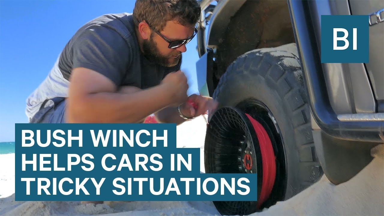 Bush Winch Attaches To Car Wheels Pull Them Out Of Bad Situations