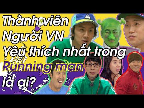 """Thành viên Người Việt nam yêu thích nhất trong """"Running Man"""" là ai ?"""