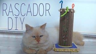Rascador para gatos con latas de pringles y cartón│Candy Bu
