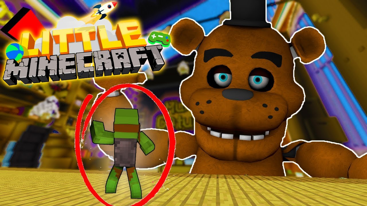 Minecraft Toy Freddy : Giant freddy fasbear toy is alive little minecraft