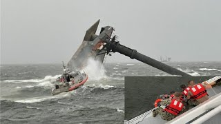 Louisiana ship capsize. Search for survivors from 'lift' vessel