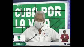 Conferencia de Prensa: Cuba frente a la Covid-19 (22 de julio de 2021)