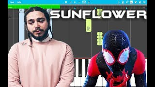 Post Malone, Swae Lee - Sunflower PIANO Tutorial EASY (Piano Cover) Video