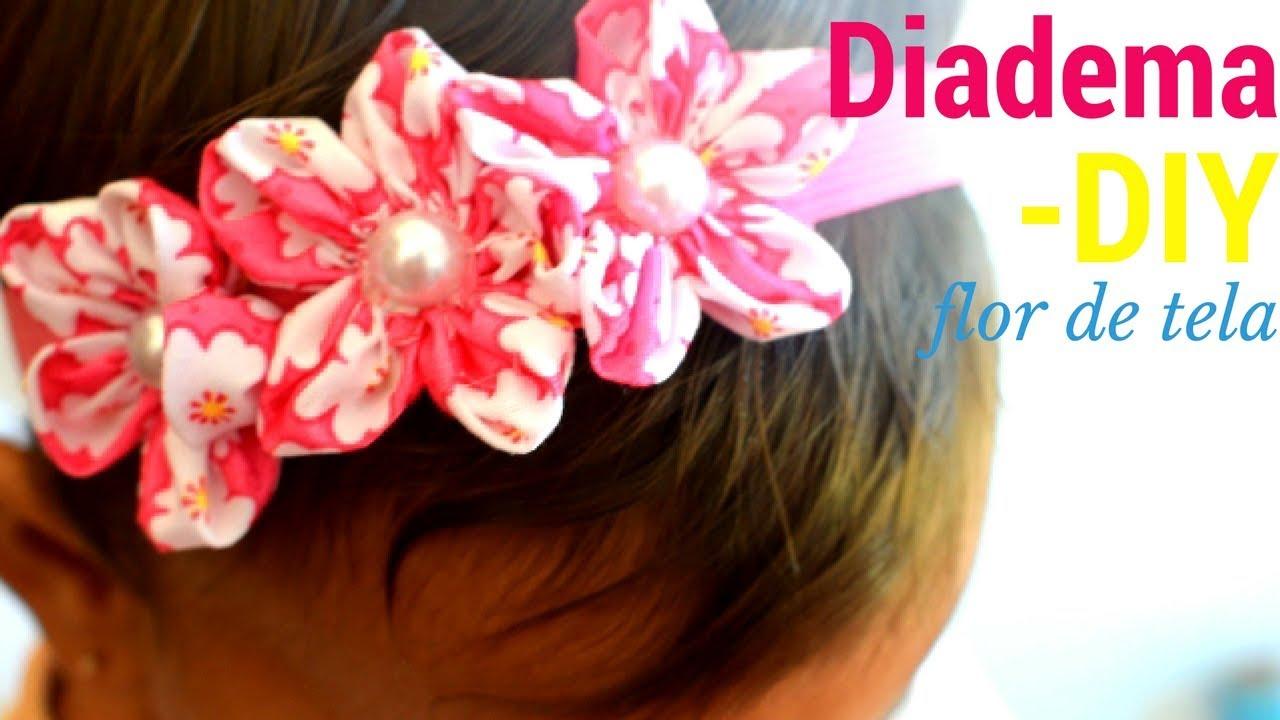 flor de tela para diadema cintillos pinzas ganchos max q wapa diy