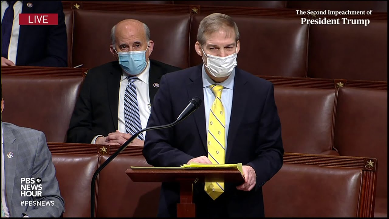 WATCH: Rep. Jim Jordan says second Trump impeachment is a product of 'cancel culture'