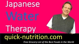 Japanese Water Therapy is a Great, Free Way to Improve Your Health. Water is Great!
