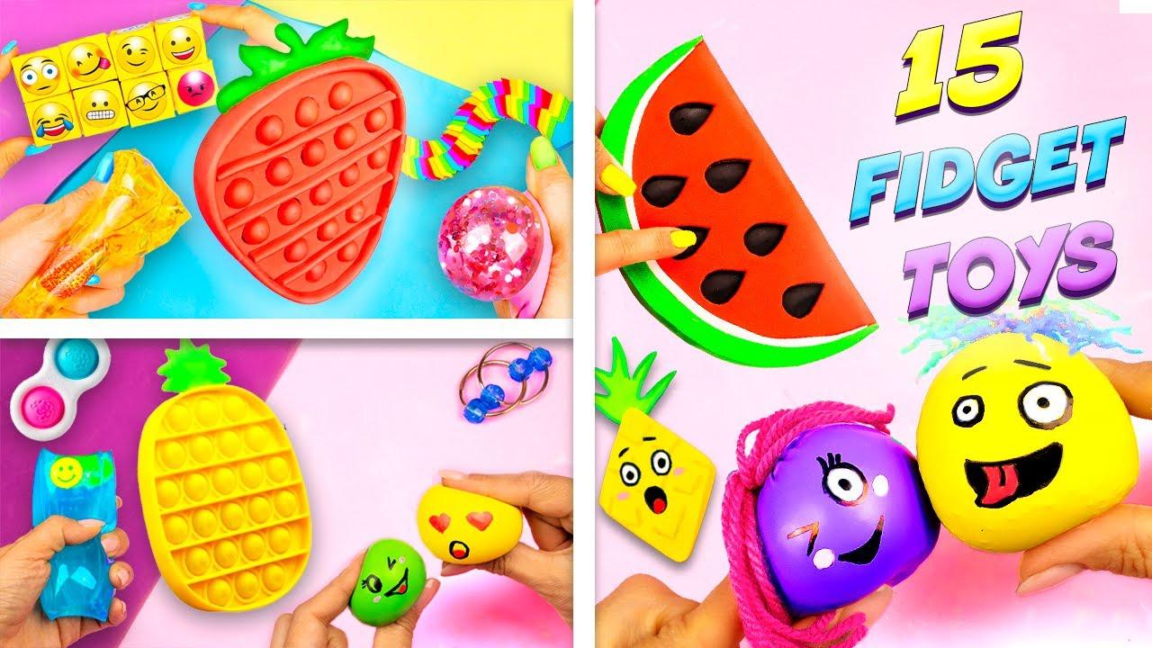 15 Идей как сделать Антистресс своими руками Diy fidget toys