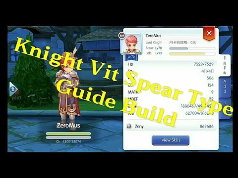 Ragnarok Mobile Eternal Love Knight Vit Build Spear type Guide by Agung PYM  LINK
