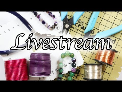 Create along with me Live Stream ⎮ Intertwining macrame bracelets