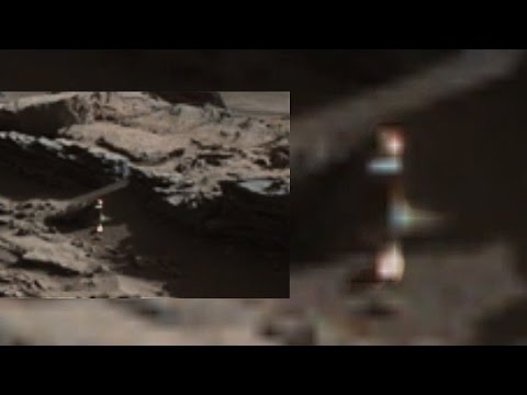 HUMANOID WALKING ON MARS IN TRUE COLOR~BLUE LAKE ON MARS Baffles NASA EXPERTS!