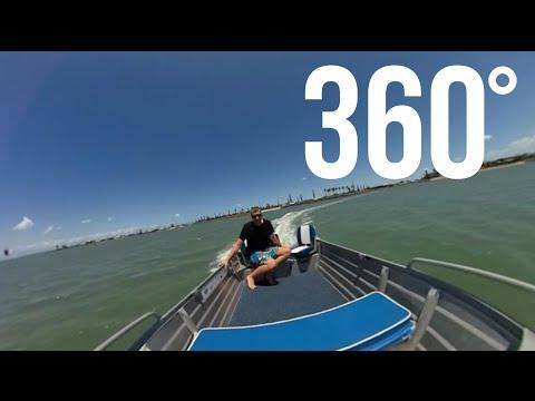 Aluminium Fishing Boat in 360 Degree Virtual Reality Video!