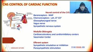 BARORECEPTORS AND CHEMORECEPTORS ON HEART FUNCTION BY NIK NIKAM MD