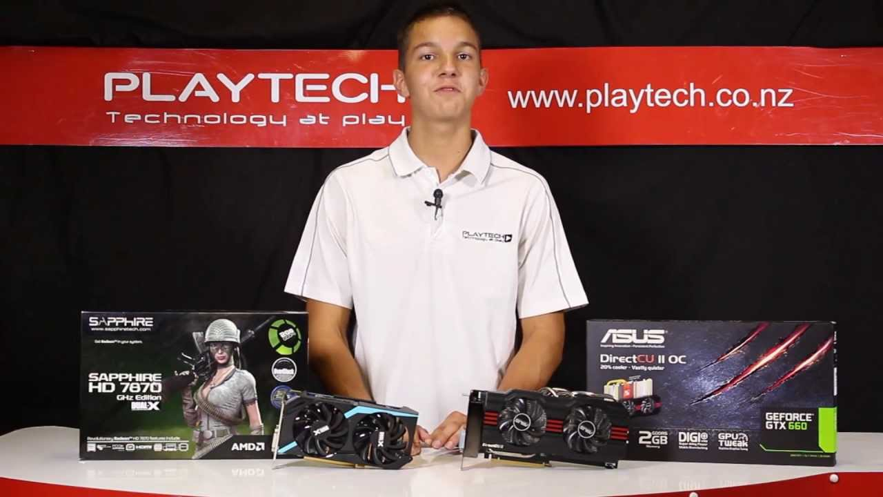 PlaytechTV - AMD Radeon HD 7870 vs  Nvidia GeForce GTX 660 Graphics Card  Comparison
