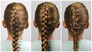 How to: FRENCH BRAID (3 WAYs) ✿ HOW TO BRAID FOR BEGINNERS ✿ Braid Tutorial #4