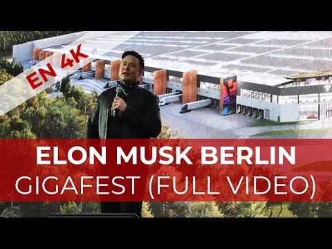 [4K] ELON MUSK AT GIGAFEST OPENING OF TESLA BERLIN BRANDERBURG GERMANY GIGAFACTORY
