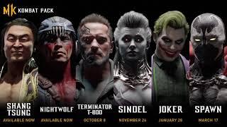 Mortal Kombat 11 | Kombat Pack Roster Reveal | Terminator / Joker / Spawn / Sindel