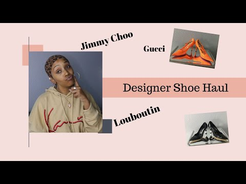 Designer Shoe Haul |  How to buy designer shoes cheap | Jimmy Choo | Manolo | Louboutin | Gucci