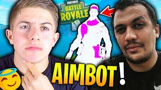 TK A ACTIVÉ SON AIMBOT SUR FORTNITE BATTLE ROYALE !!!