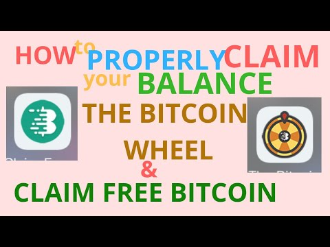 How To Claim Your Balance In Claim Free Bitcoin & The Bitcoin Wheel 2019