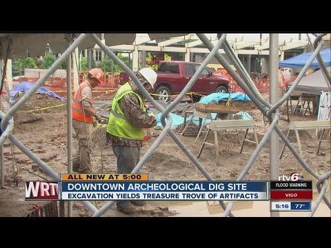 Treasure trove of artifacts discovered beneath Indy parking lot