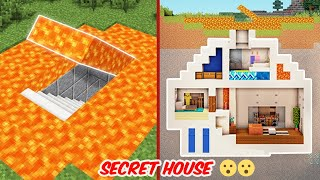 MADE A LAVA SECRET HOUSE 🔥 IN MINECRAFT   ANDREOBEE