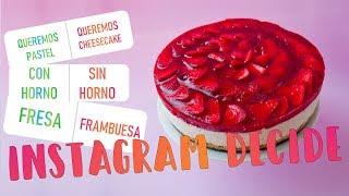 CHEESECAKE DE FRESA SIN HORNO | INSTAGRAM DECIDE EL POSTRE | POSTRE PARA MAMÁ | ALE HERVI