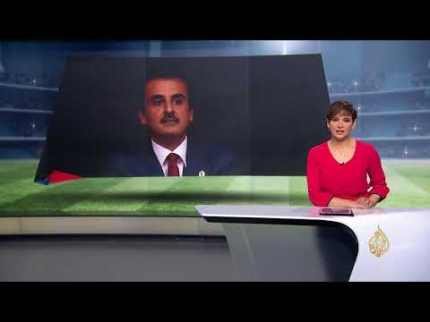 أمير قطر يترك مقعده بنهائي المونديال لزوجة ماكرون