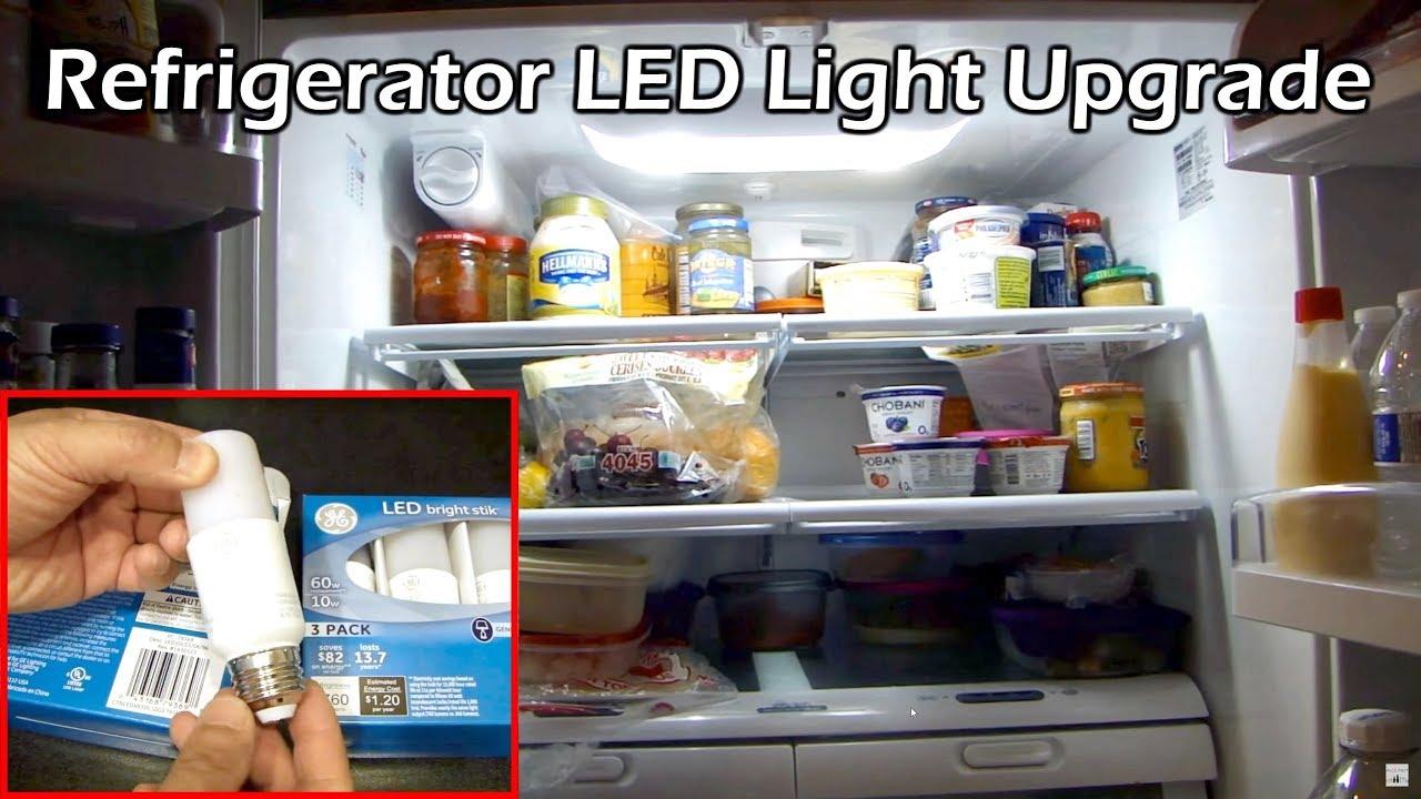 Super Bright White Refrigerator Led Light Upgrade Youtube