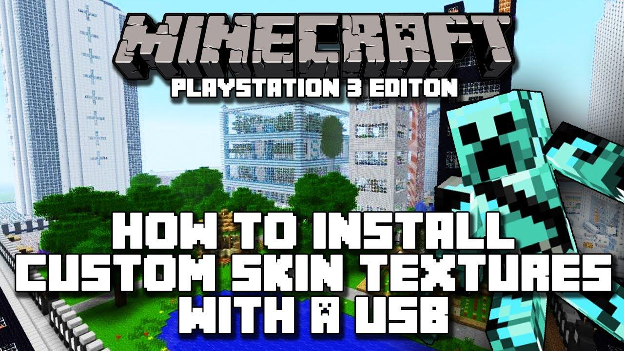 Minecraft Playstation Edition How To Install Custom Skins Through - Wie installiert man skins fur minecraft