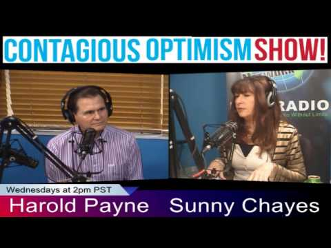 The Contagious Optimism Show February 20, 2014. Guest, Harold Payne