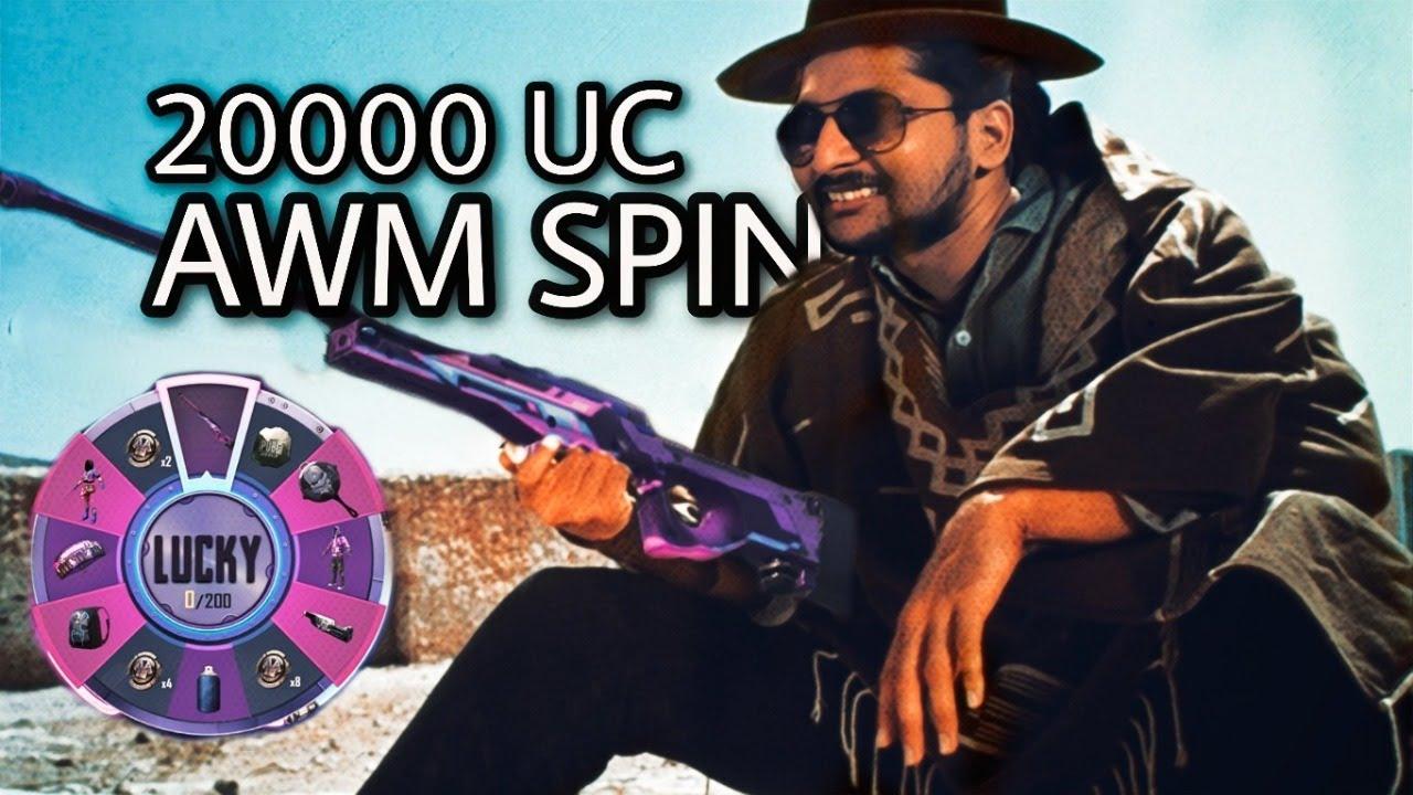 20,000 UC Mauve Avenger Awm Spin || Stream No:89 || Heros Gaming