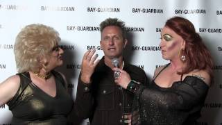 SF Bay Guardian Editor Steven T. Jones chats on the Goldies Awards red carpet